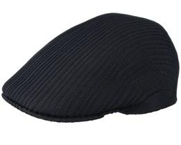 Tropic Rib 507 Black Flat Cap - Kangol