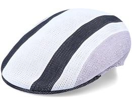 Sym Stripe 504 White Flat Cap - Kangol