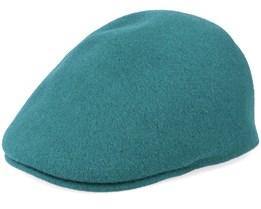 Seamless Wool 507 Dk Lichen Green Flat Cap - Kangol
