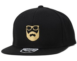Logo Black/Gold Snapback - Bearded Man