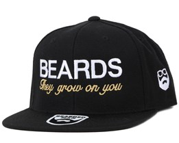 Beards Grow Black/White Snapback - Bearded Man