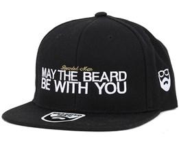 May The Beard Black Snapback - Bearded Man