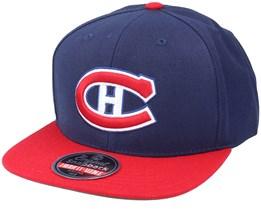 Montreal Canadiens 400 Series Navy/Red Snapback - American Needle