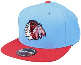 Chicago Blackhawks 400 Series Light Blue/Dark Red Snapback - American Needle