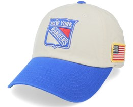 New York Rangers United Slouch Ivory/Royal Dad Cap - American Needle