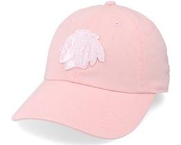 Chicago Blackhawks Blue Line Tonal Pink Dad Cap - American Needle