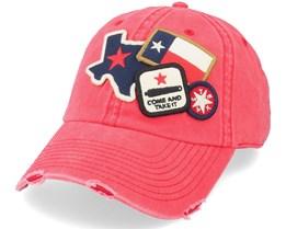 Texas  Icon Red Dad Cap - American Needle