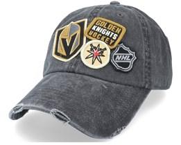 Vegas Golden Knights Vegas Golden Knights  Black Dad Cap - American Needle