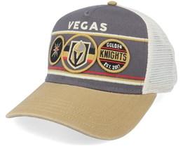 Vegas Golden Knights Domino Ivory/Charcoal Trucker - American Needle