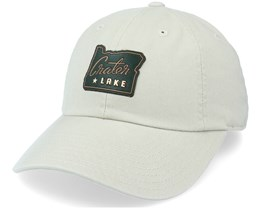 Crater Lake Leatherhead Slouch Stone Dad Cap - American Needle