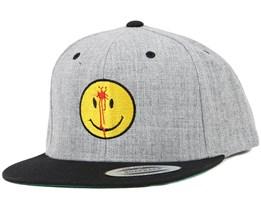 Smiley Headshot Grey/Yellow Snapback - Iconic