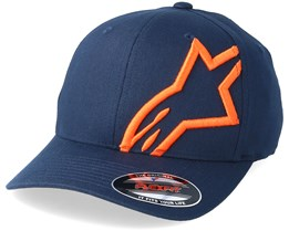 Corp Shift 2 Curved Brim Navy/Orange Flexfit - Alpinestars