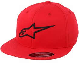Ageless Flatbill Red/Black Fitted - Alpinestars