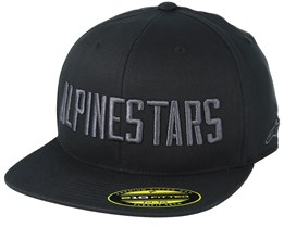 Word Hat Black/Black Fitted - Alpinestars