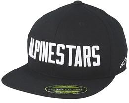 Word Hat Black/White Fitted - Alpinestars