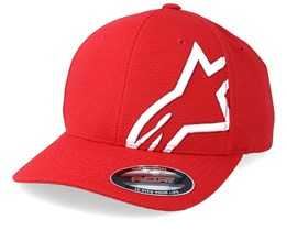Corp Shift Mock Mesh Red/White Flexfit - Alpinestars