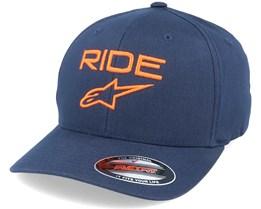 Ride 2.0 Hat Navy/Orange Flexfit - Alpinestars