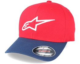 Ageless Curve Red/Navy Flexfit - Alpinestars
