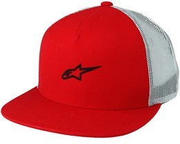 Amigo Red Trucker Snapback - Alpinestars