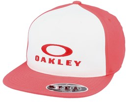 Silver 110  Poppy Red/White Snapback - Oakley