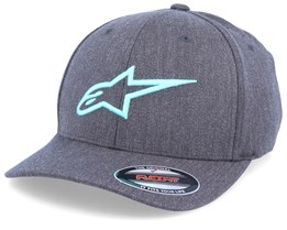 Ageless Curve Dark Heather Grey/Turquoise Flexfit - Alpinestars
