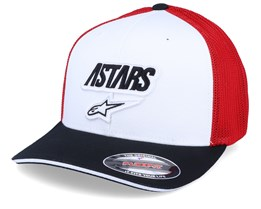Race Angle Mesh White/Black/Red Flexfit - Alpinestars