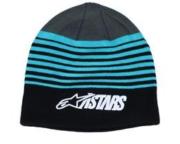 Purps Black/Blue/Charcoal Beanie - Alpinestars