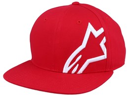Corp Red/White Snapback - Alpinestars