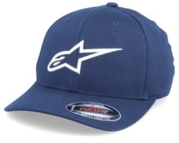 Ageless Curve Navy/White Flexfit - Alpinestars