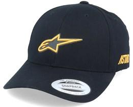 Ageless Popper Hat Black/Yellow Adjustable - Alpinestars
