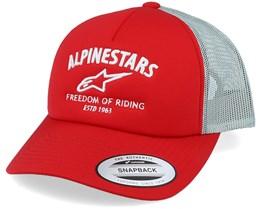 Lockdown Hat Red Trucker - Alpinestars