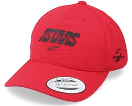 Angle Velo Tech Hat Red Adjustable - Alpinestars
