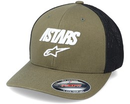 Angle Stretch Mesh Military/Black Flexfit - Alpinestars