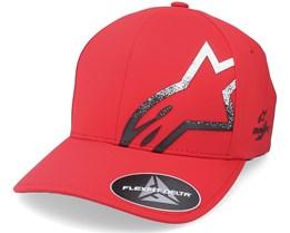 Corp  Comet Delta Hat Red/Black Flexfit - Alpinestars