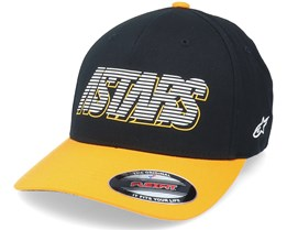 Lanes Hat Black/Yellow Flexfit - Alpinestars