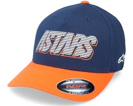 Lanes Hat Navy/Orange Flexfit - Alpinestars