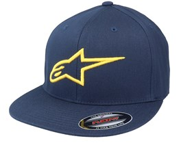 Ageless Flat Hat Navy/Gold Fitted - Alpinestars
