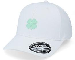 Cool Luck 3 White/Mint Clover Snapback - Black Clover