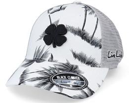 Island Luck 9 White/Black Trucker - Black Clover