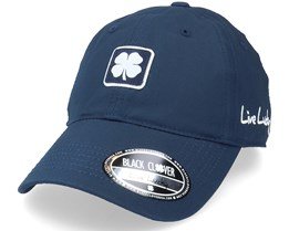 Sunny Fields 3 Navy/Woven Patch Dad Cap - Black Clover