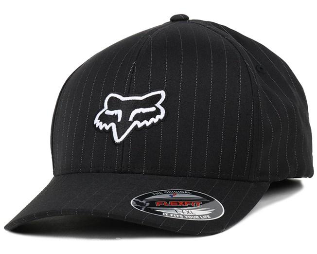 Legacy Black Pinstripe Flexfit - Fox