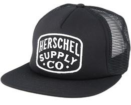 Whaler Mesh Black Trucker - Herschel