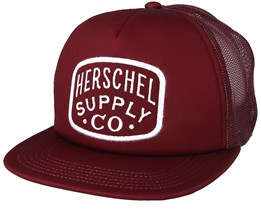 Whaler Mesh Patch Windsor Wine Trucker - Herschel