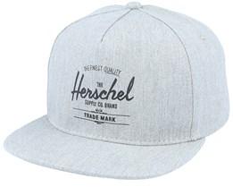 Whaler Heather Grey Snapback - Herschel
