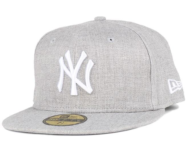 3e56f22b00f NY Yankees MLB Basic Grey 59Fifty - New Era caps - Hatstoreworld.com