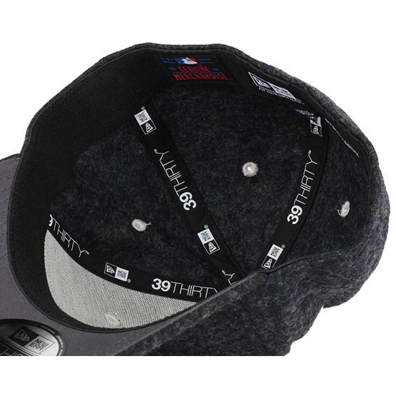 NY Yankees Felt Wool Graphite 39Thirty Flexfit - New Era caps ... aefd5b561618