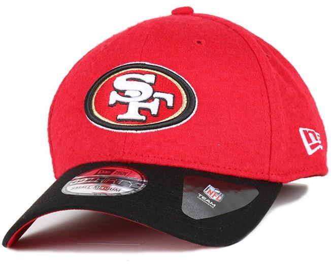 a134b6317e2 San Francisco 49ers Team Melton 39Thirty Flexfit - New Era cap ...