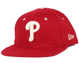 Philadelphia Phillies Felt Wool Heather Red 9Fifty Snapback - New Era
