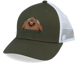 Tall Tales Olive/White Trucker - Coal