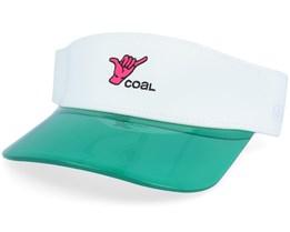 Sandy White/Green Visor - Coal